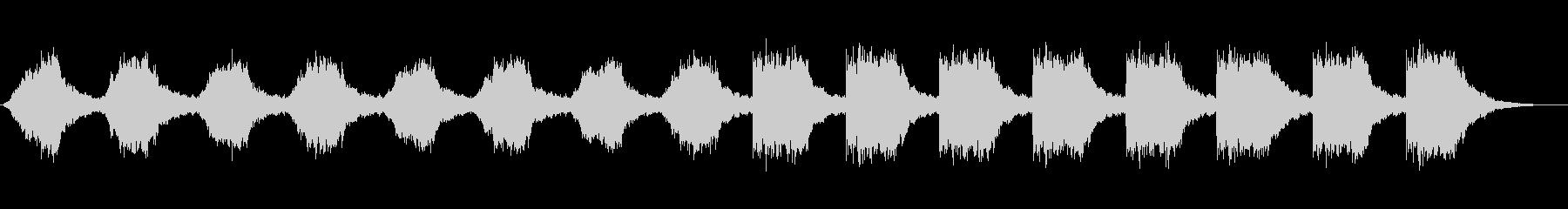 サスペンスやミステリーに適した不気味な曲の未再生の波形