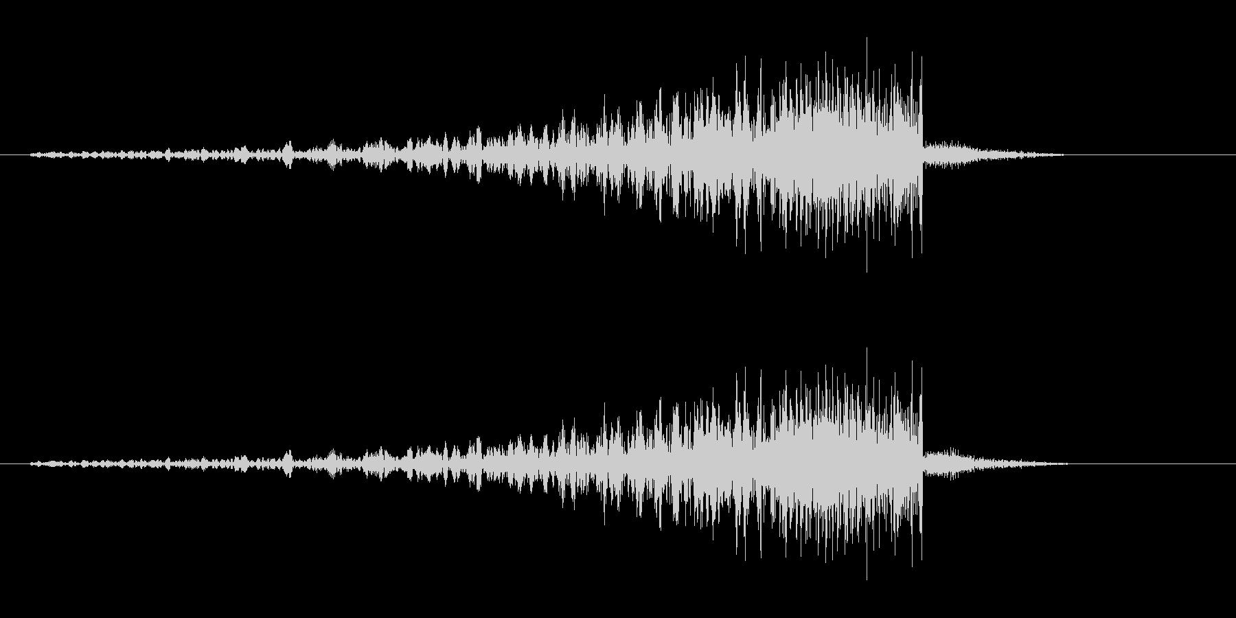プェ,プポ,プ〜ン(歯切れのいい効果音)の未再生の波形
