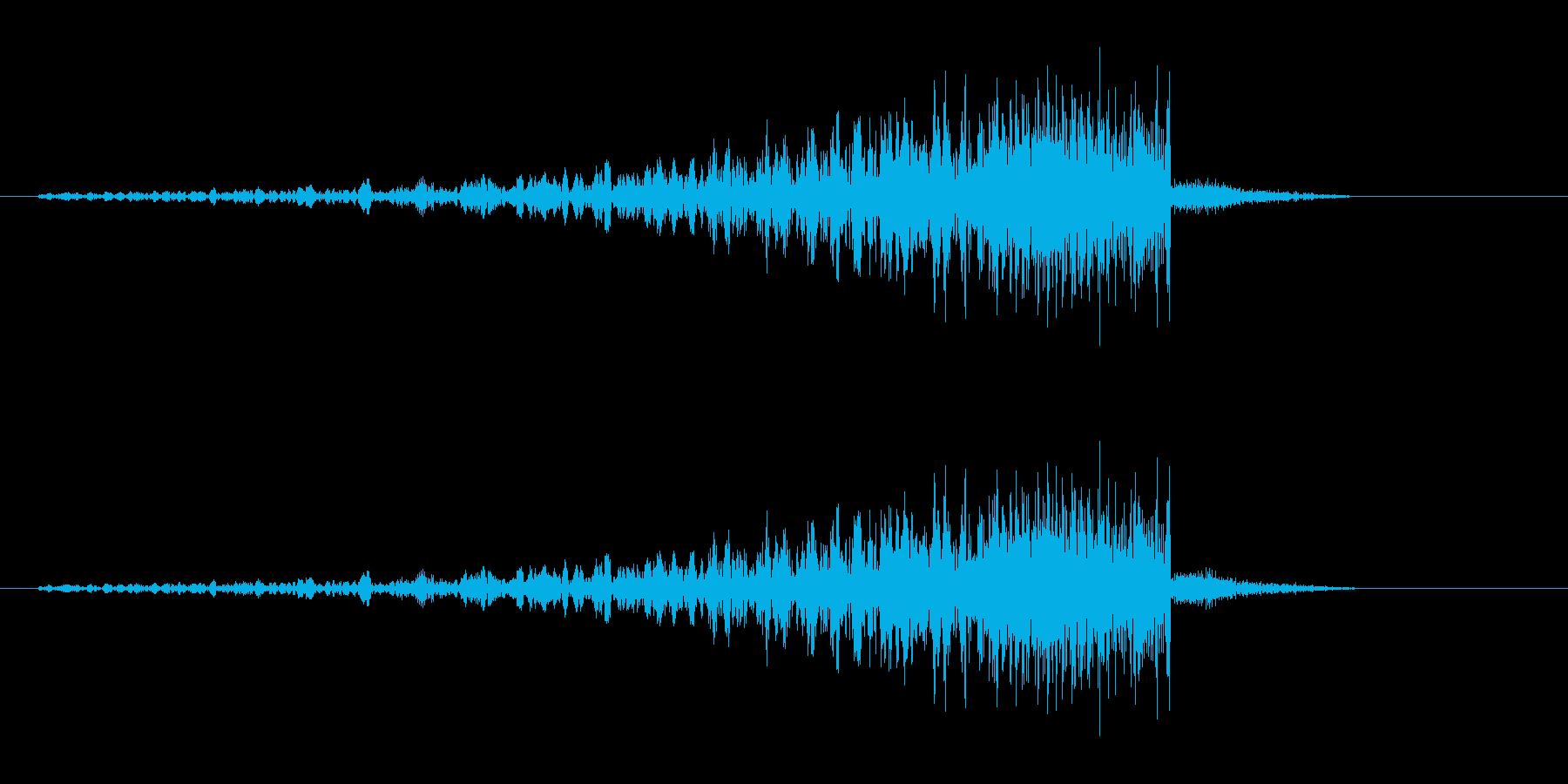 プェ,プポ,プ〜ン(歯切れのいい効果音)の再生済みの波形