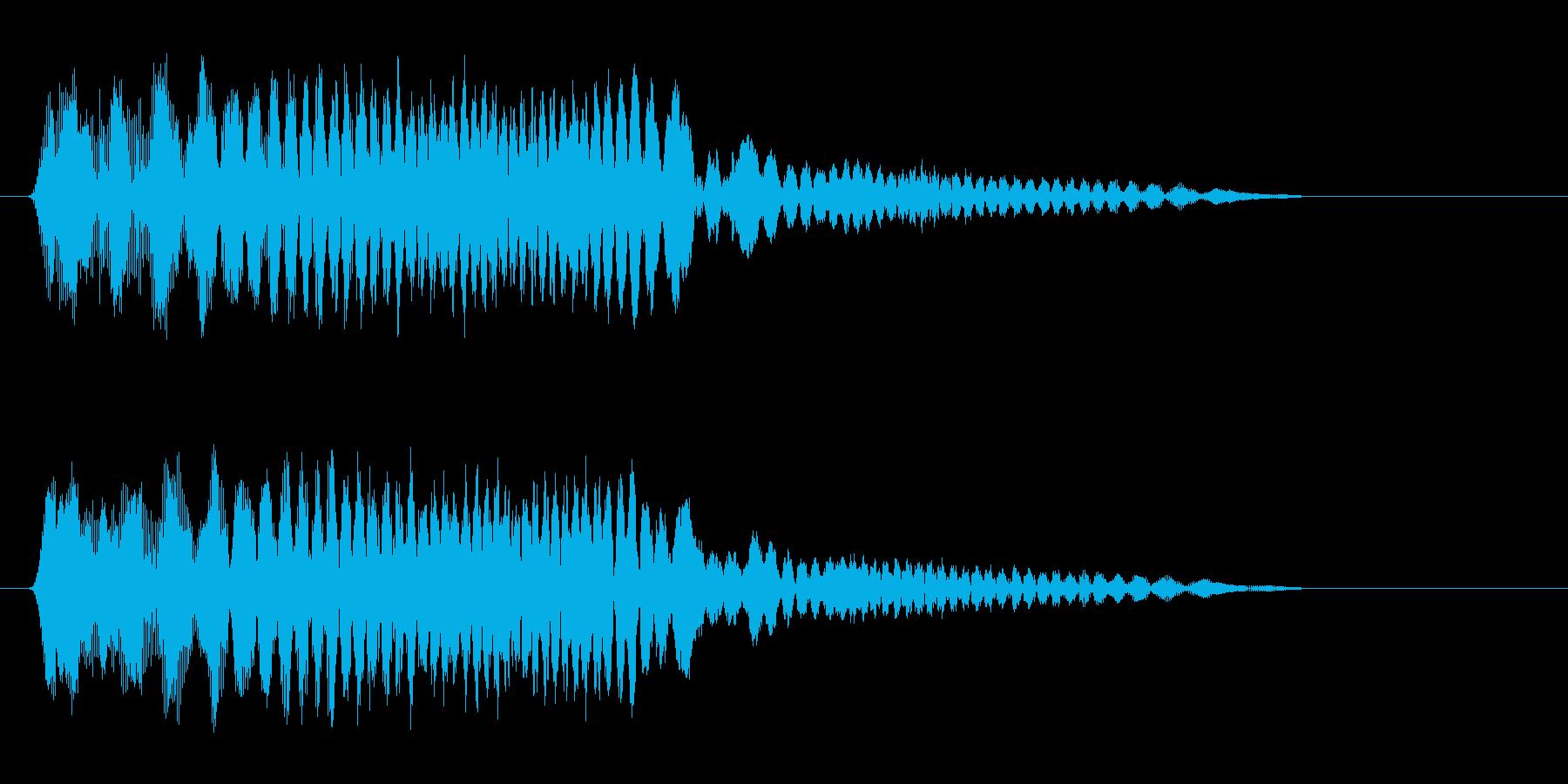 ピユーン(何かの物体が飛ぶ音)の再生済みの波形