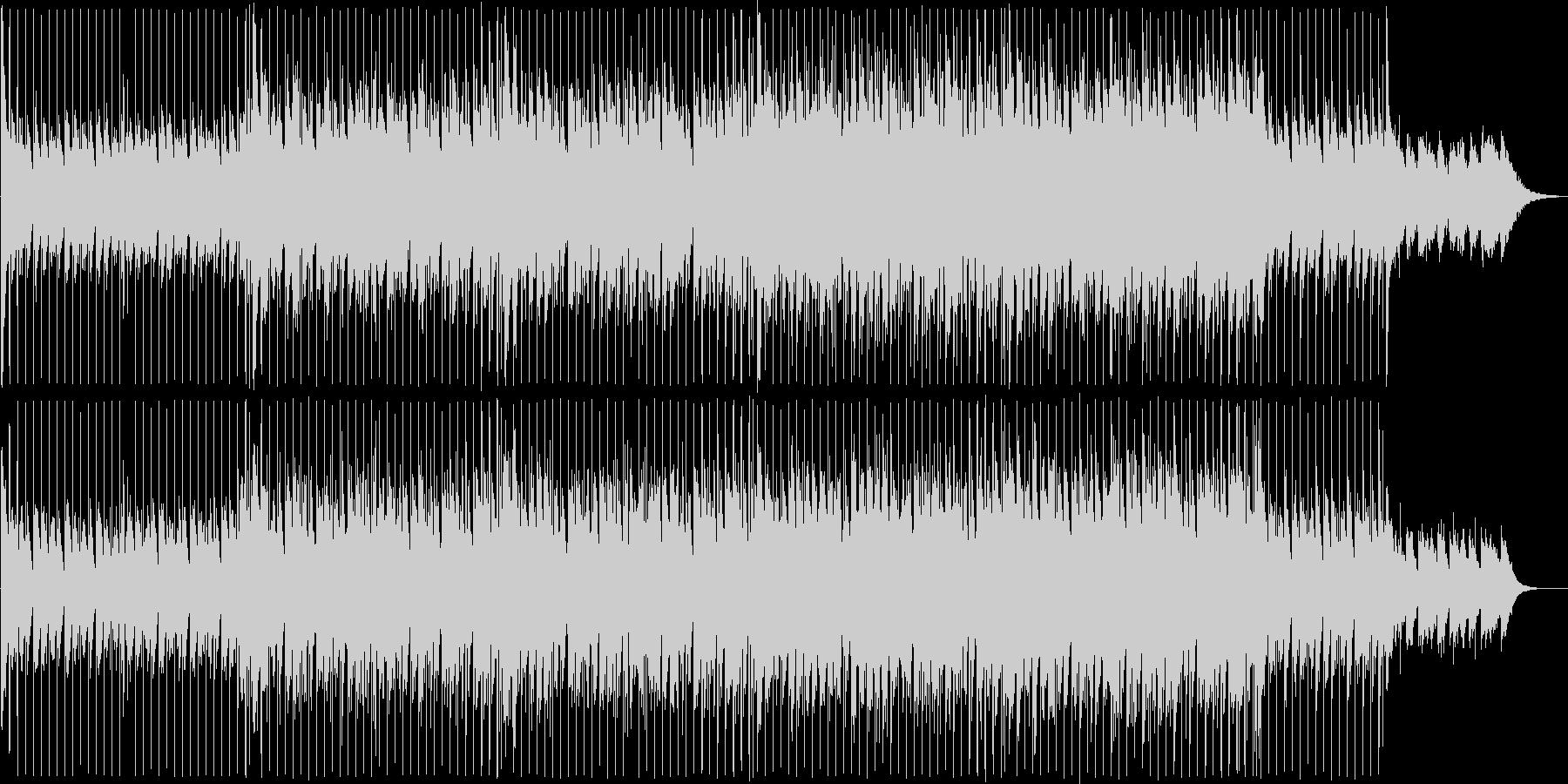近未来的なテクノポップの未再生の波形