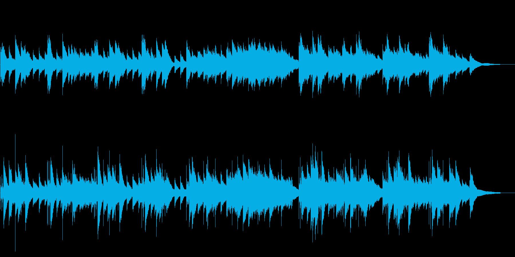 【ピアノ】心温まるピアノ曲の再生済みの波形