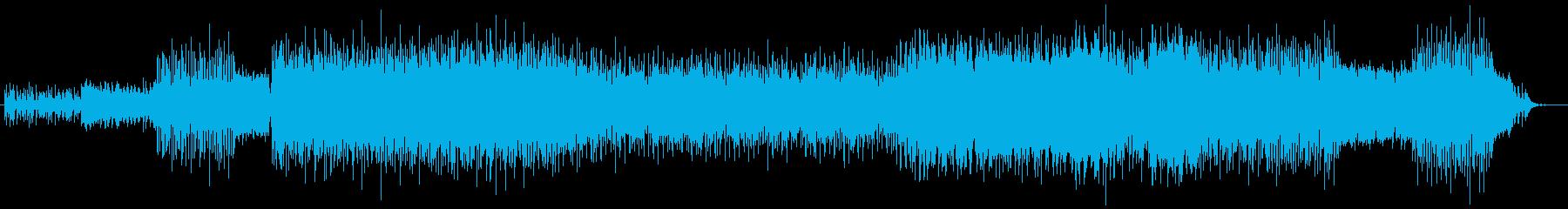 ギターリフがかっこいいパワフルな曲の再生済みの波形