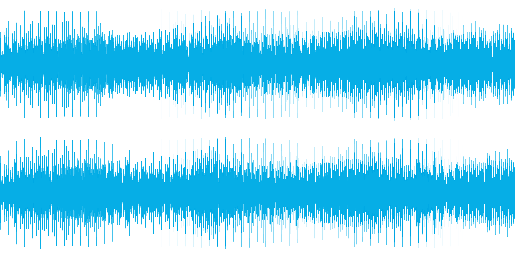 ニュースや映像、ループ可能なシンセARPの再生済みの波形