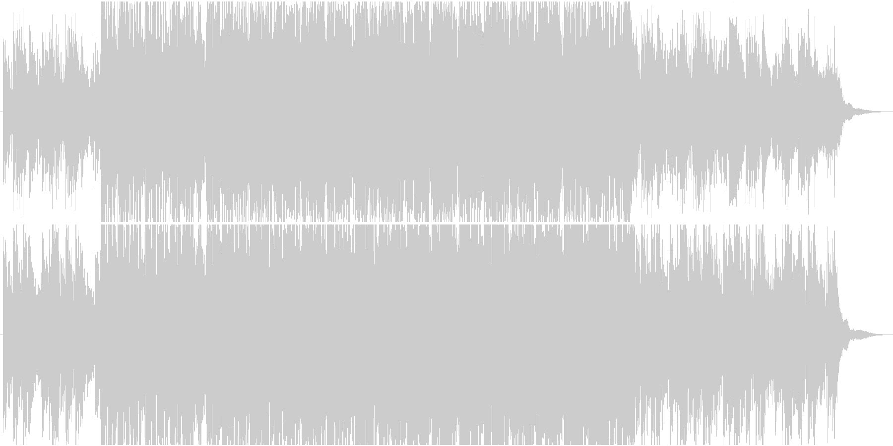 アンビエント調の近未来的なクールピアノの未再生の波形