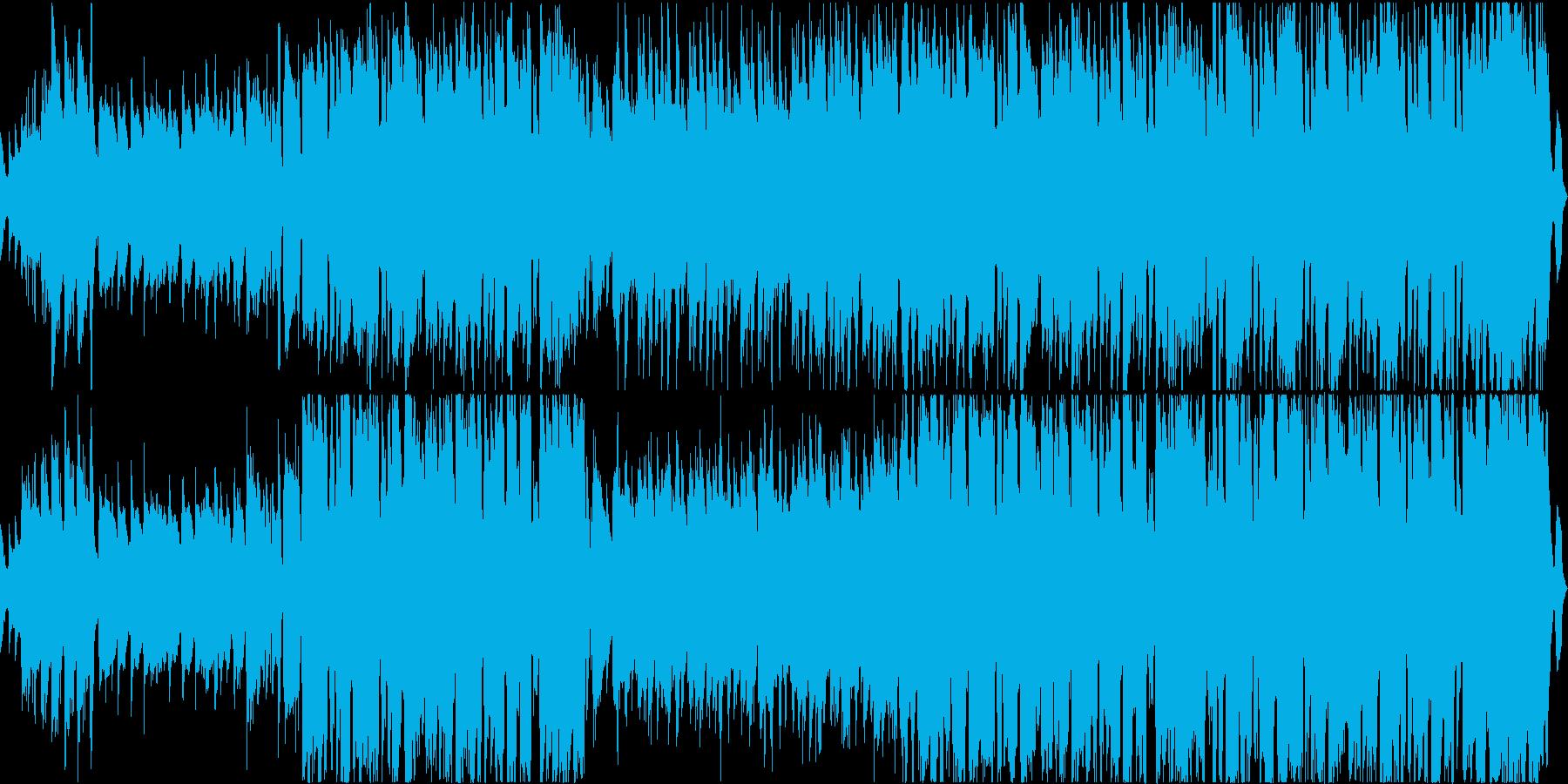ギターメロディのノリノリのジャズの再生済みの波形