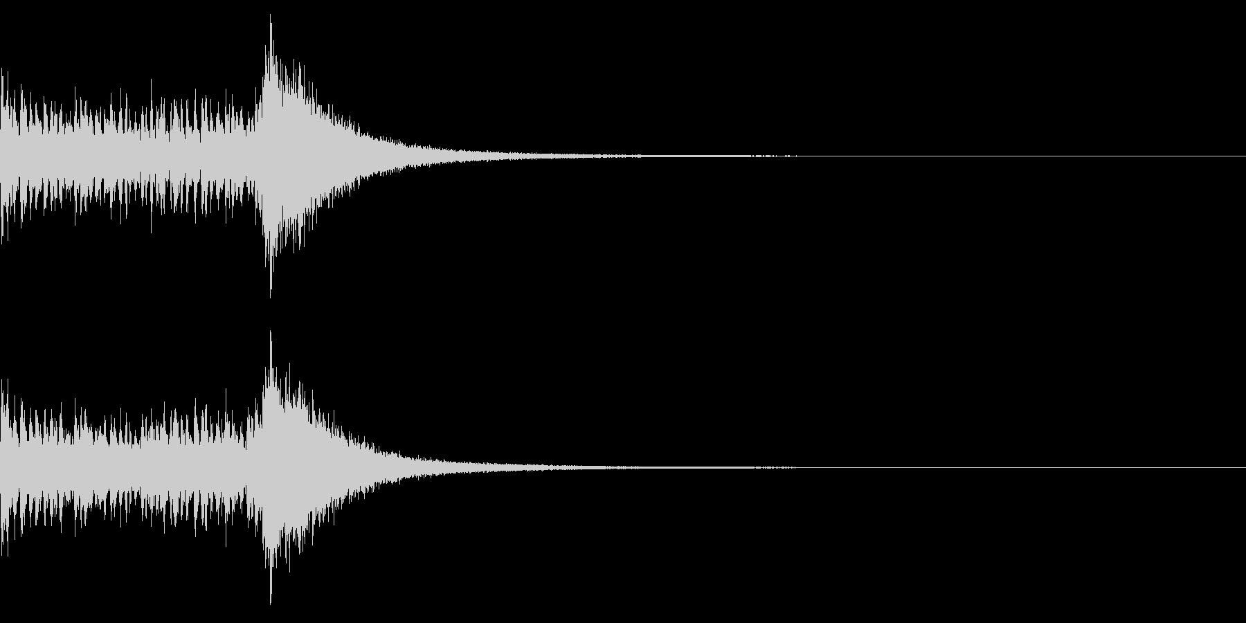 ドラムロール&シンバルの未再生の波形