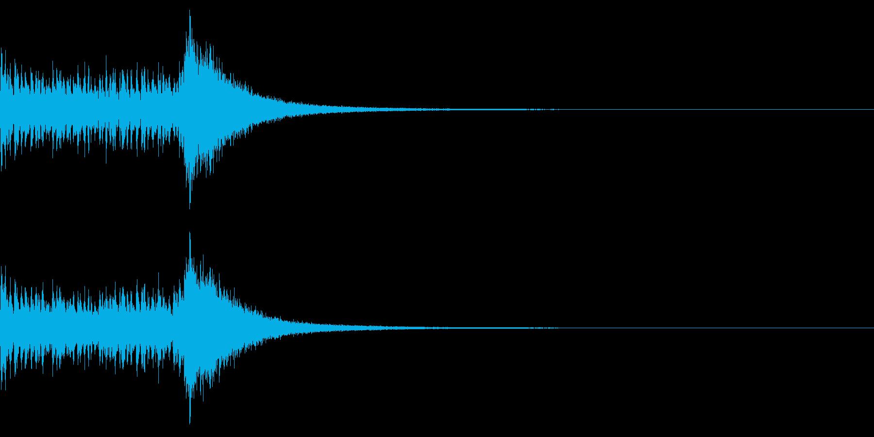 ドラムロール&シンバルの再生済みの波形