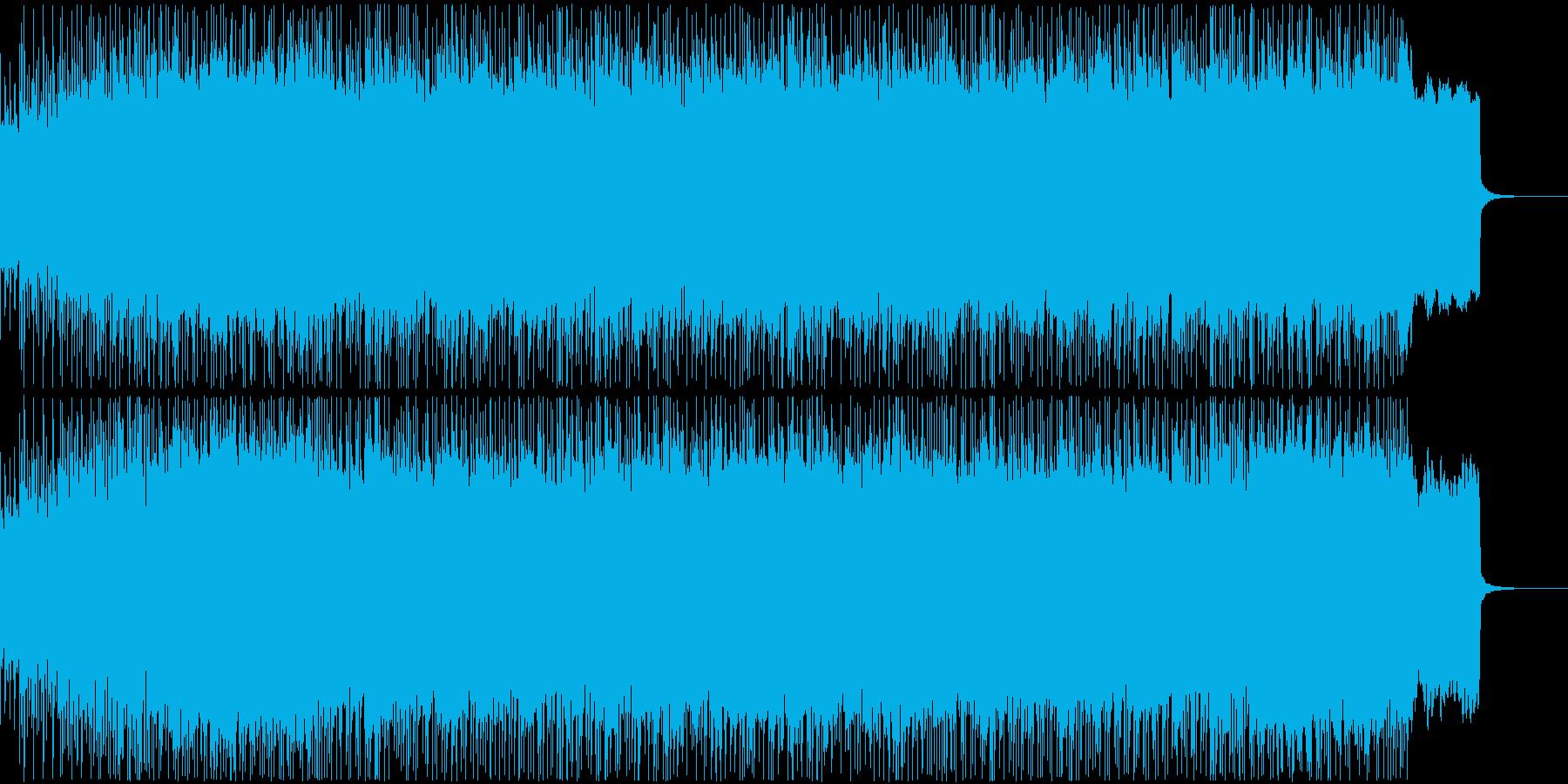 古楽器使用のノリノリパンクロック系BGMの再生済みの波形