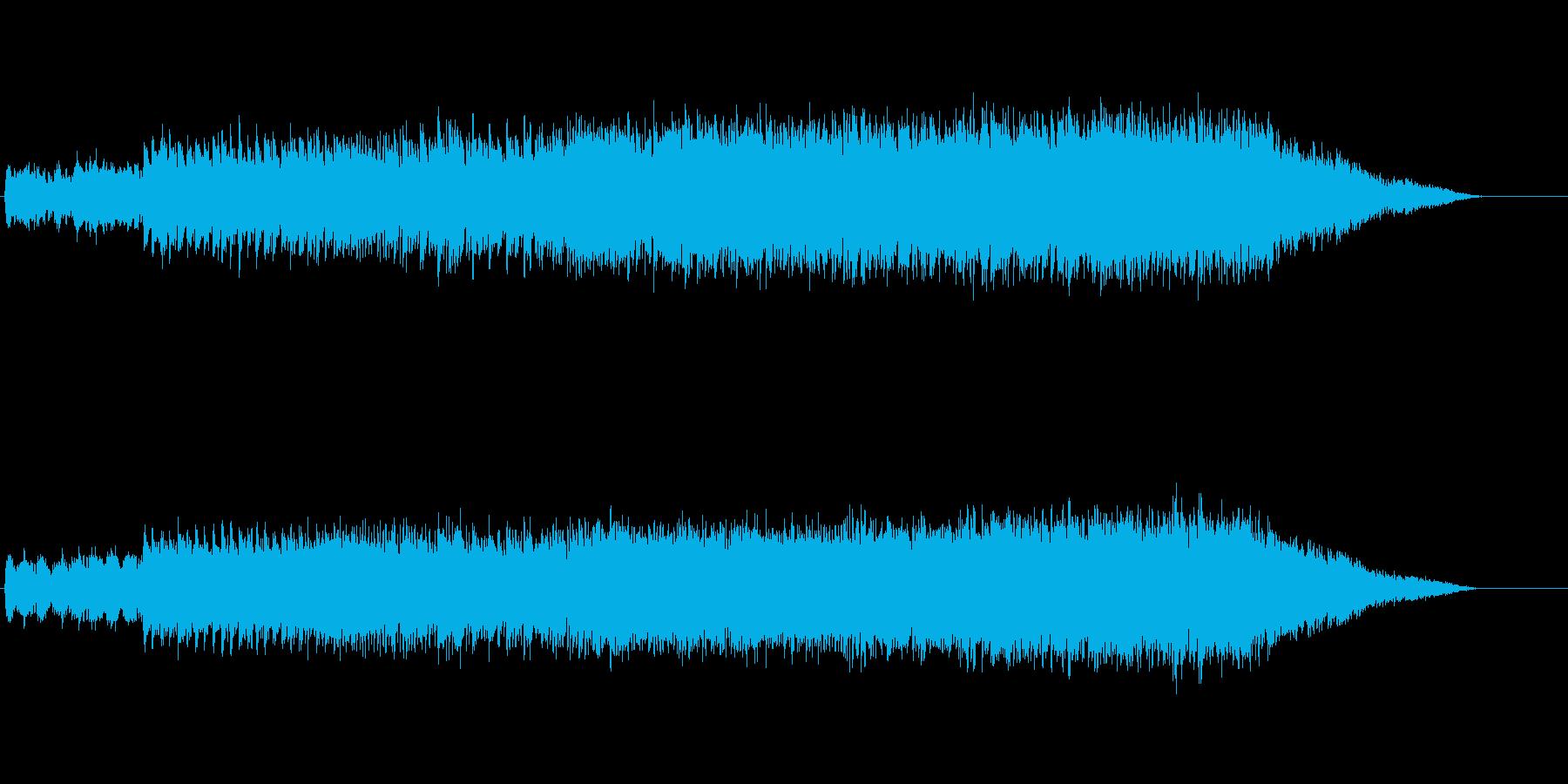 サイエンス・フィクション向きの環境音楽の再生済みの波形