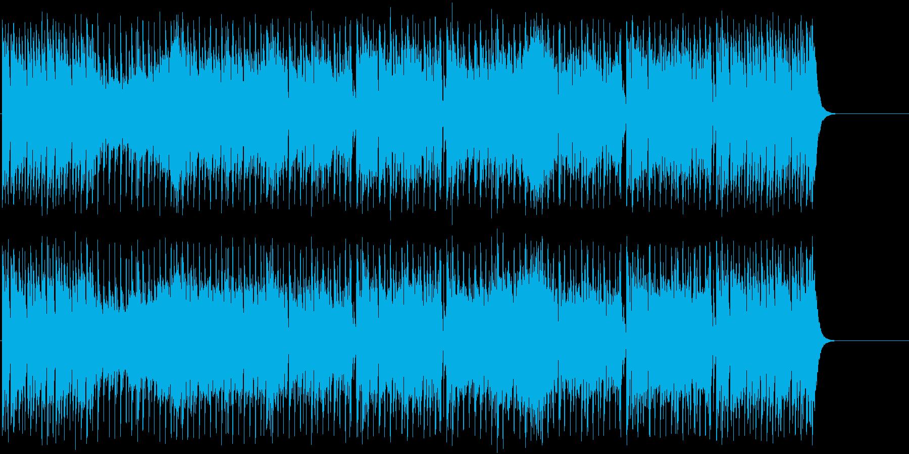 宇宙空間の様なポップ/テクノの再生済みの波形