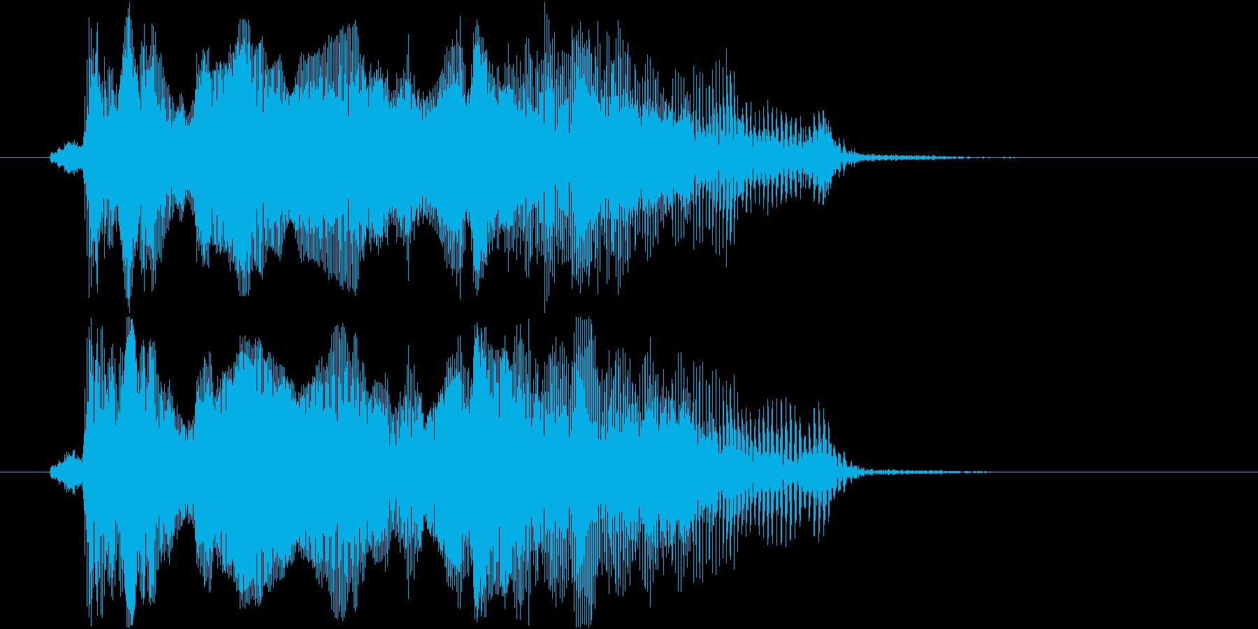 格闘ゲーム用「ファイナルラウンド」の再生済みの波形