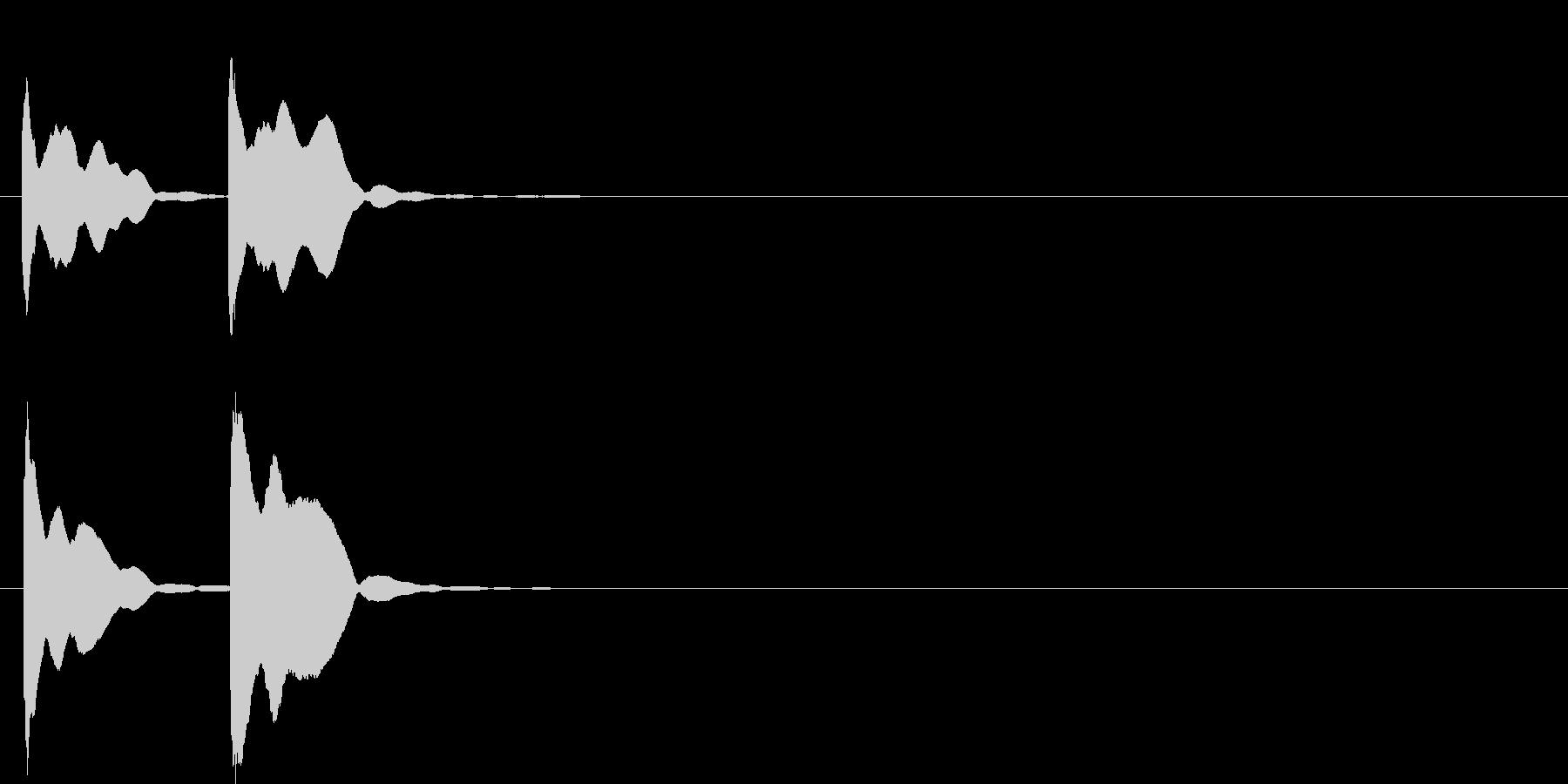 ピンポン系2 高い音の未再生の波形