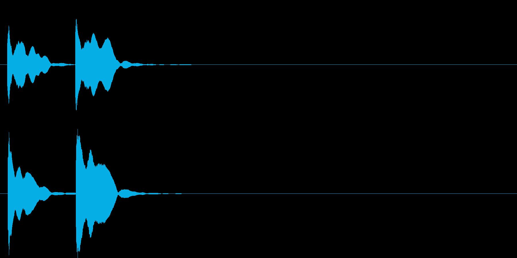 ピンポン系2 高い音の再生済みの波形
