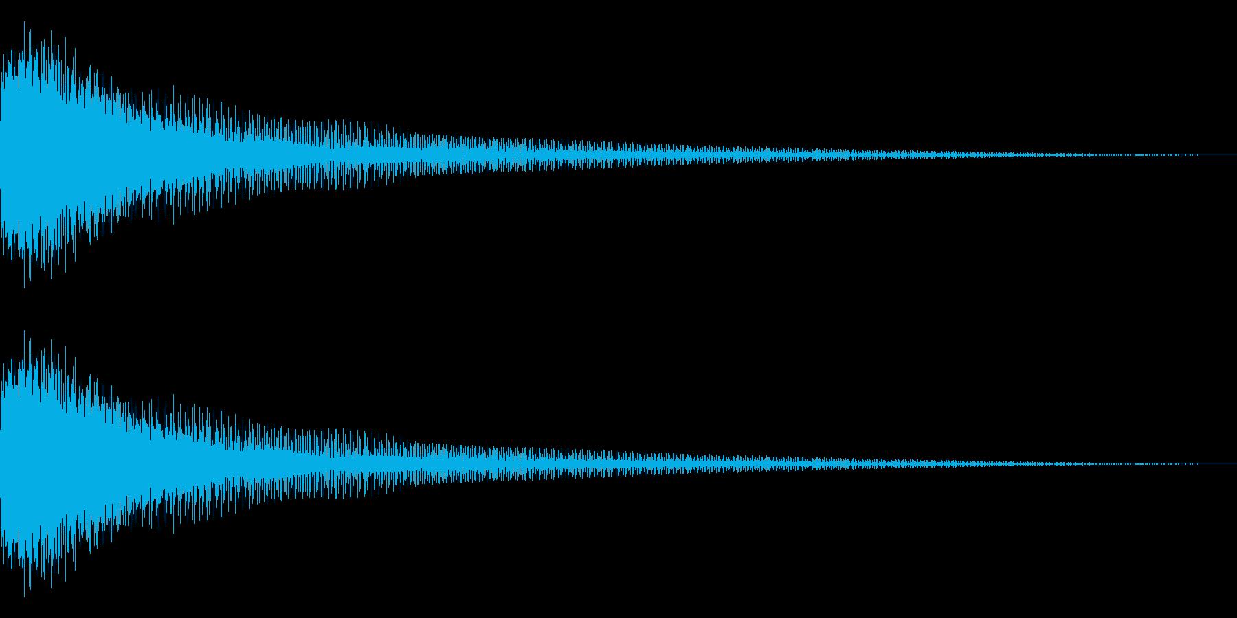 FM音源(ガーン、ギャーン)の再生済みの波形