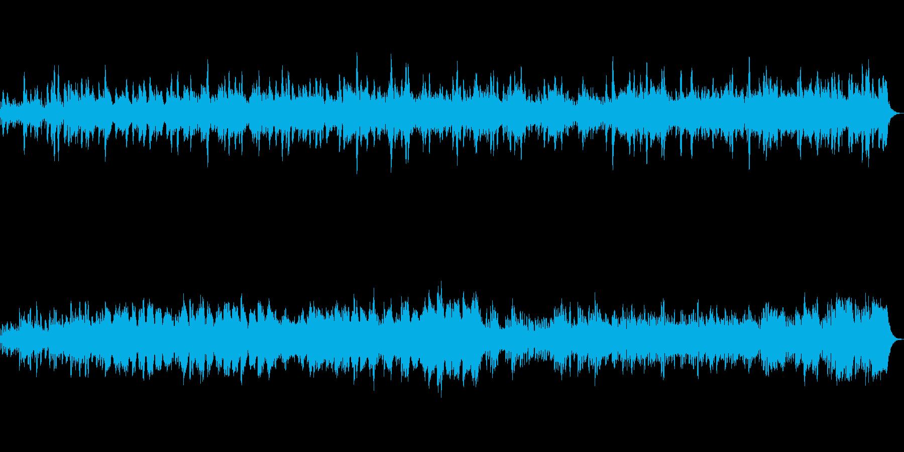 水中・海中をイメージしたBGMの再生済みの波形