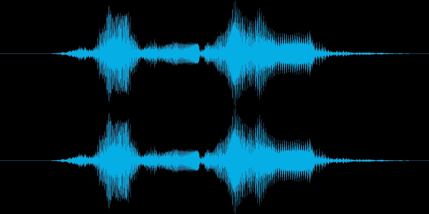 ハズレ〜の再生済みの波形
