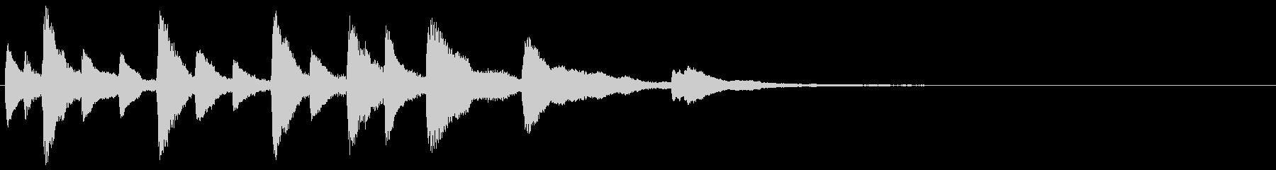 ピアノの楽しいジングル・場面転換の未再生の波形