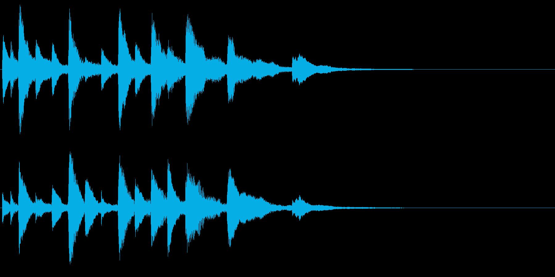 ピアノの楽しいジングル・場面転換の再生済みの波形