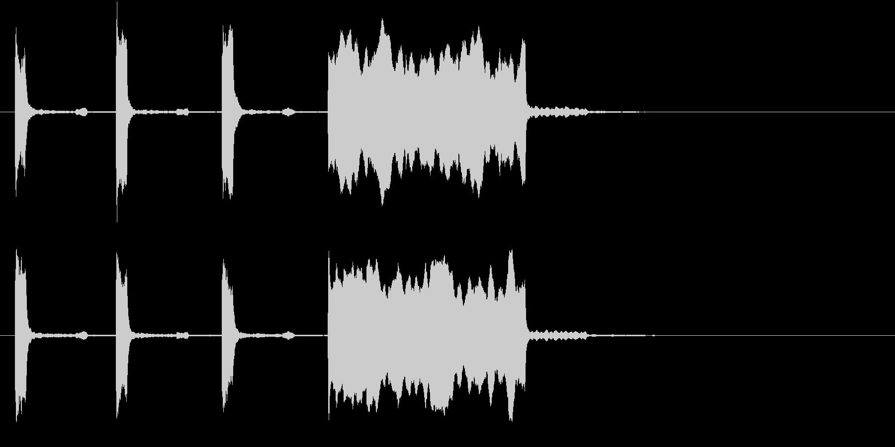 中音くらいの時報(ピッピッピッピー)の未再生の波形