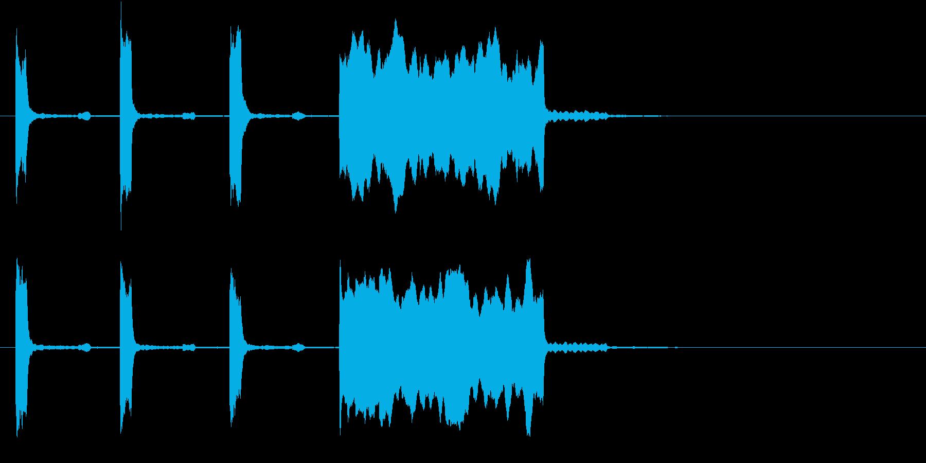中音くらいの時報(ピッピッピッピー)の再生済みの波形