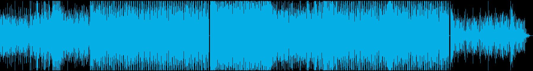 洋楽EDM風の情熱的な感じのゲーム音楽の再生済みの波形