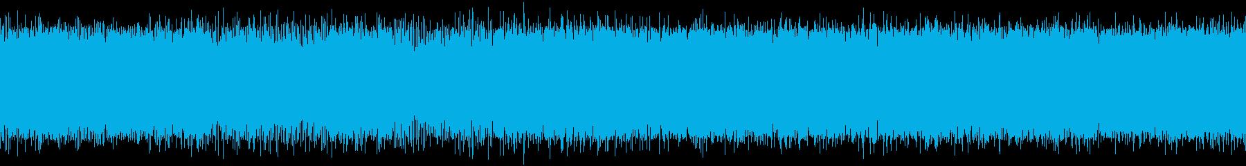 ヘリコプターの離陸音の再生済みの波形