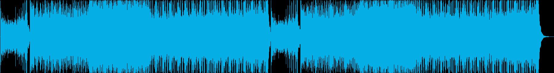 ホラーゲームのアクションシーン風BGMの再生済みの波形
