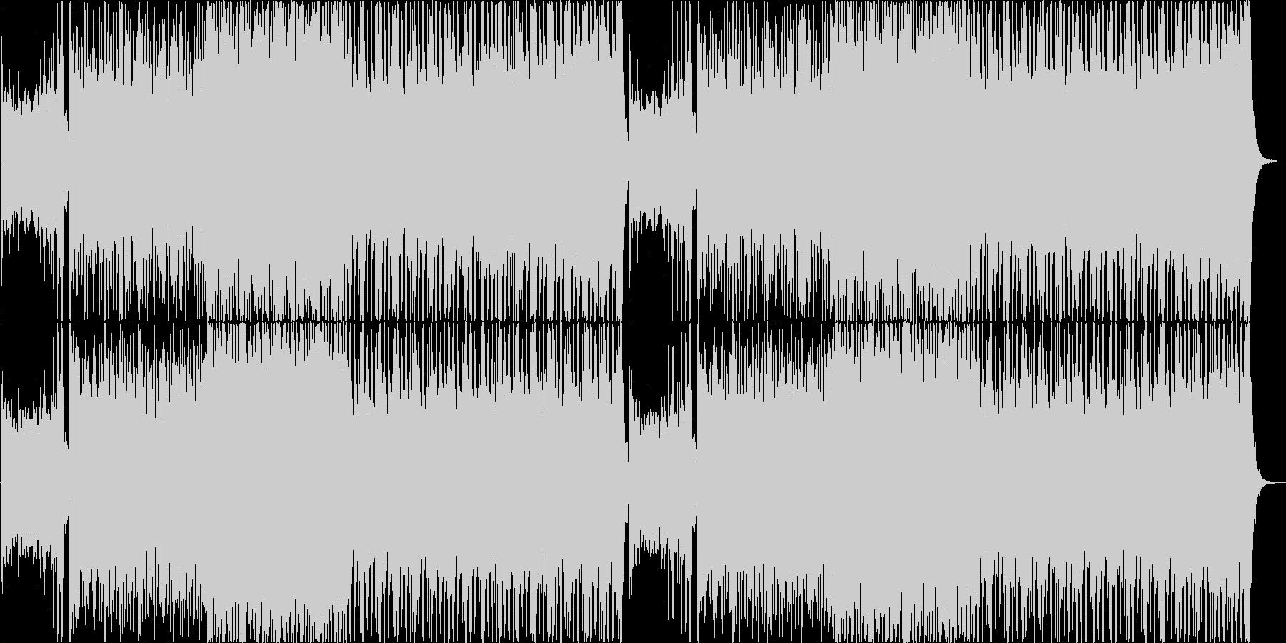 ホラーゲームのアクションシーン風BGMの未再生の波形