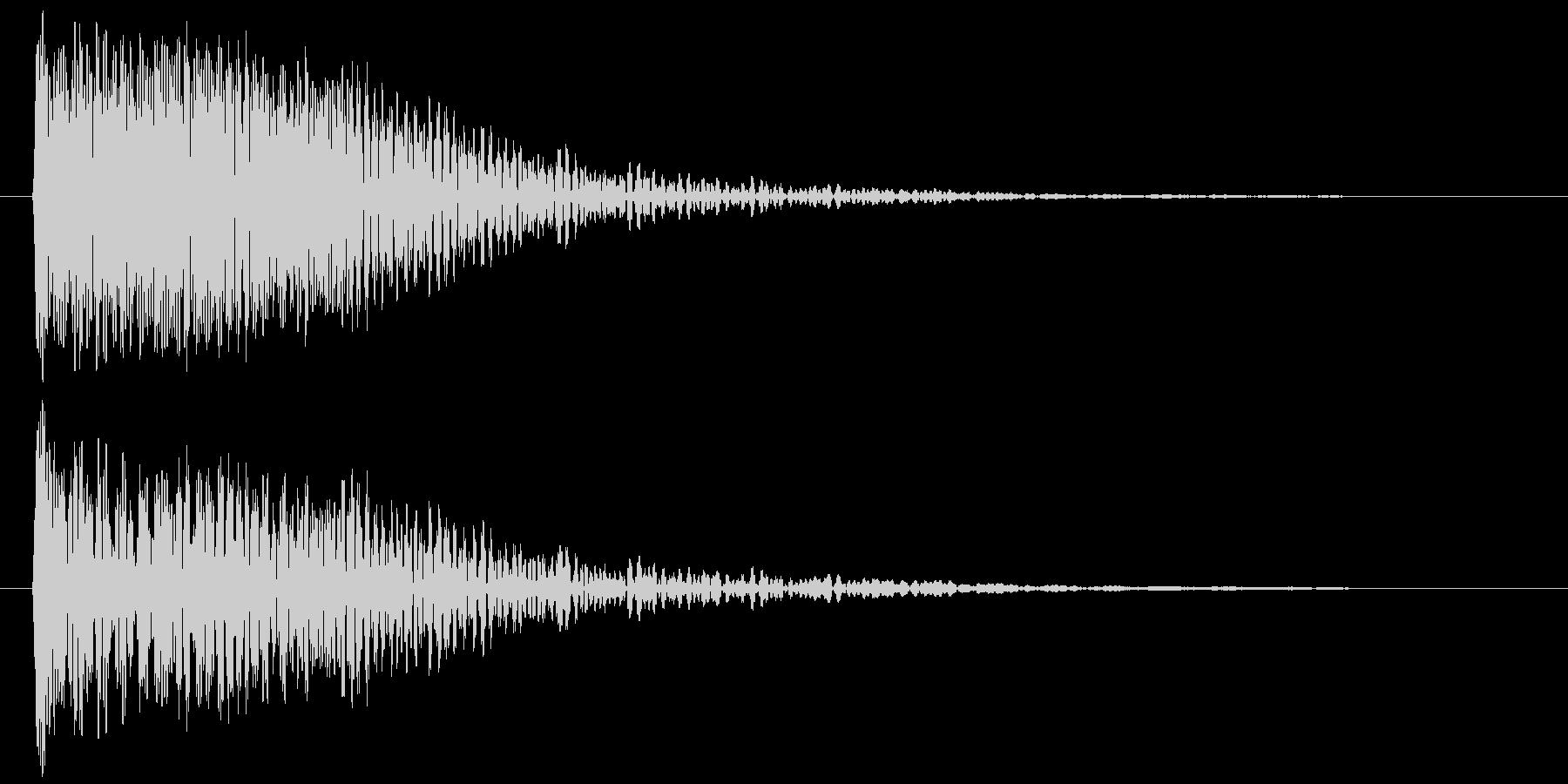 恐怖音2の未再生の波形