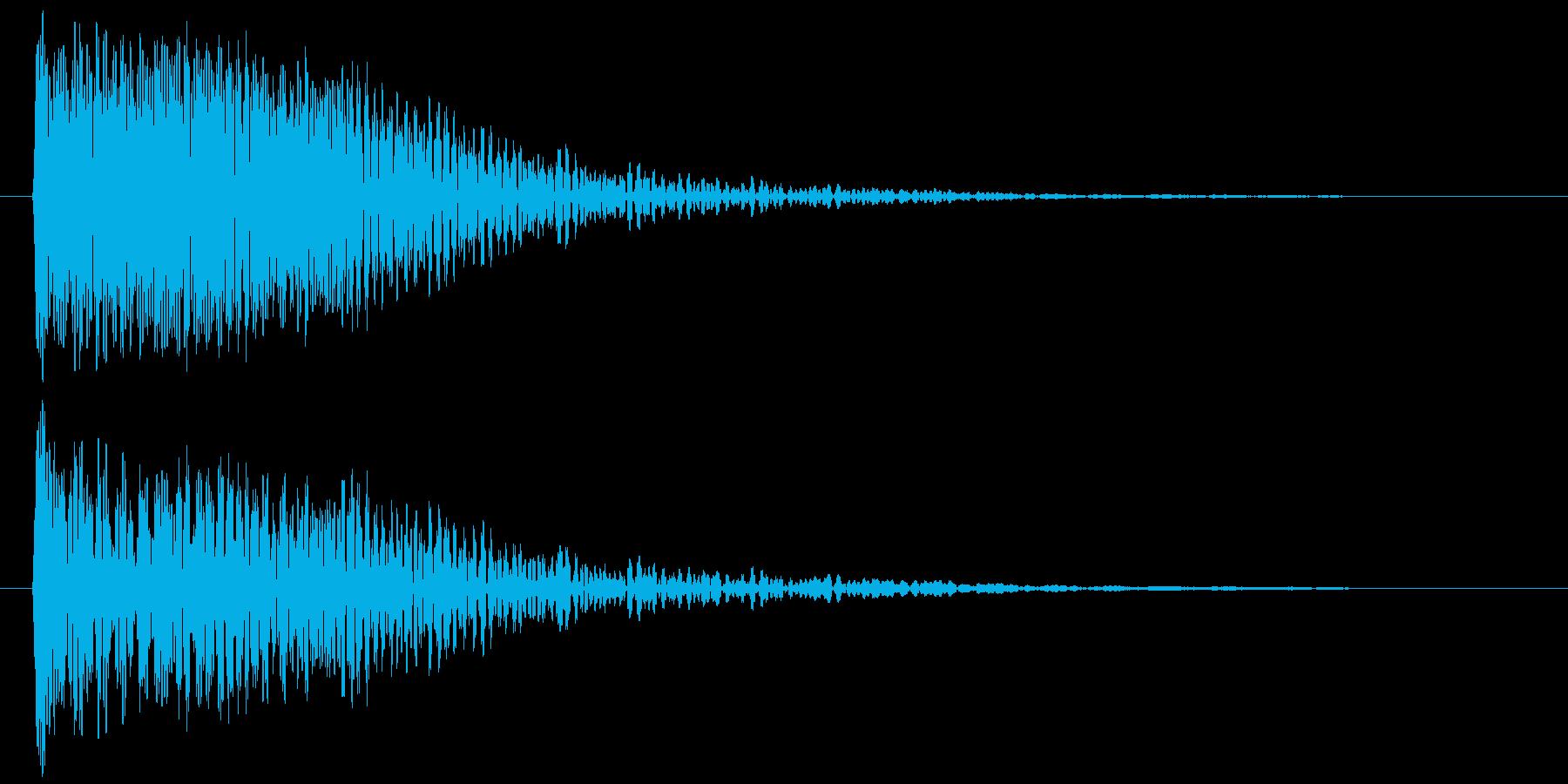 恐怖音2の再生済みの波形