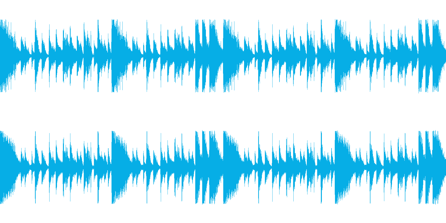 「ファンキーなバンドサウンドLoop」の再生済みの波形