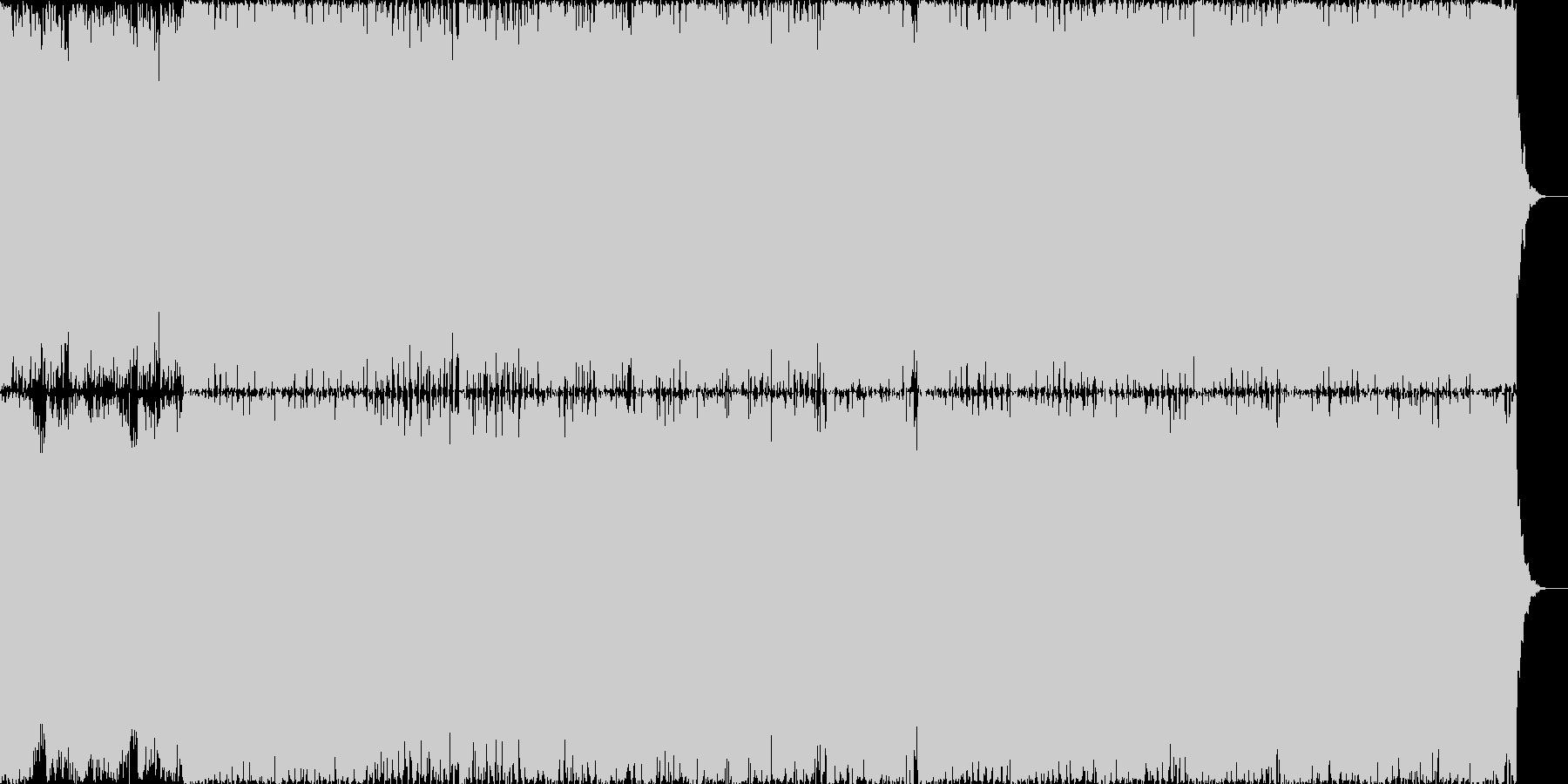 疾走感のあるシンセと4つ打ちの未再生の波形
