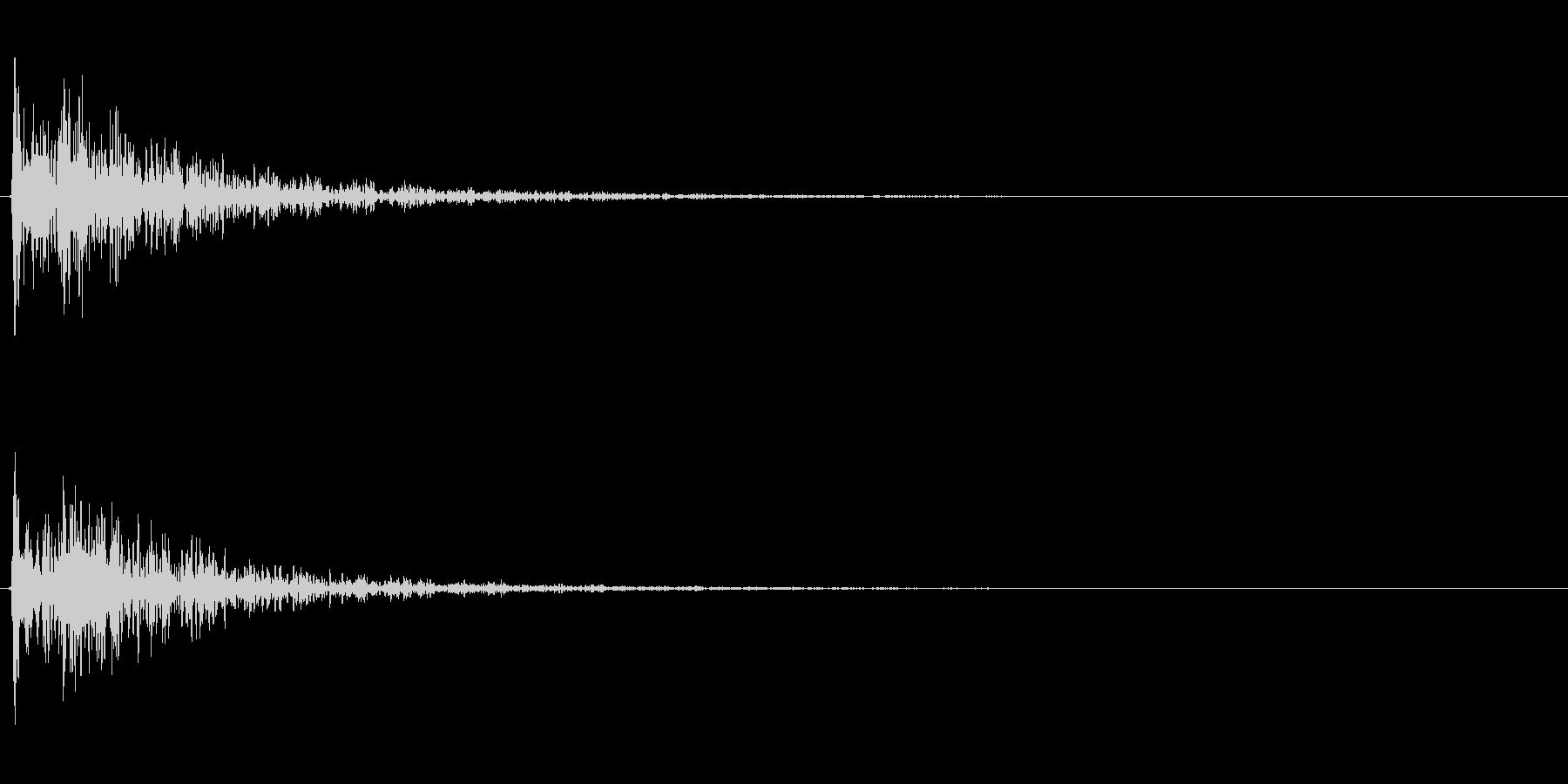 【衝撃01-2】の未再生の波形