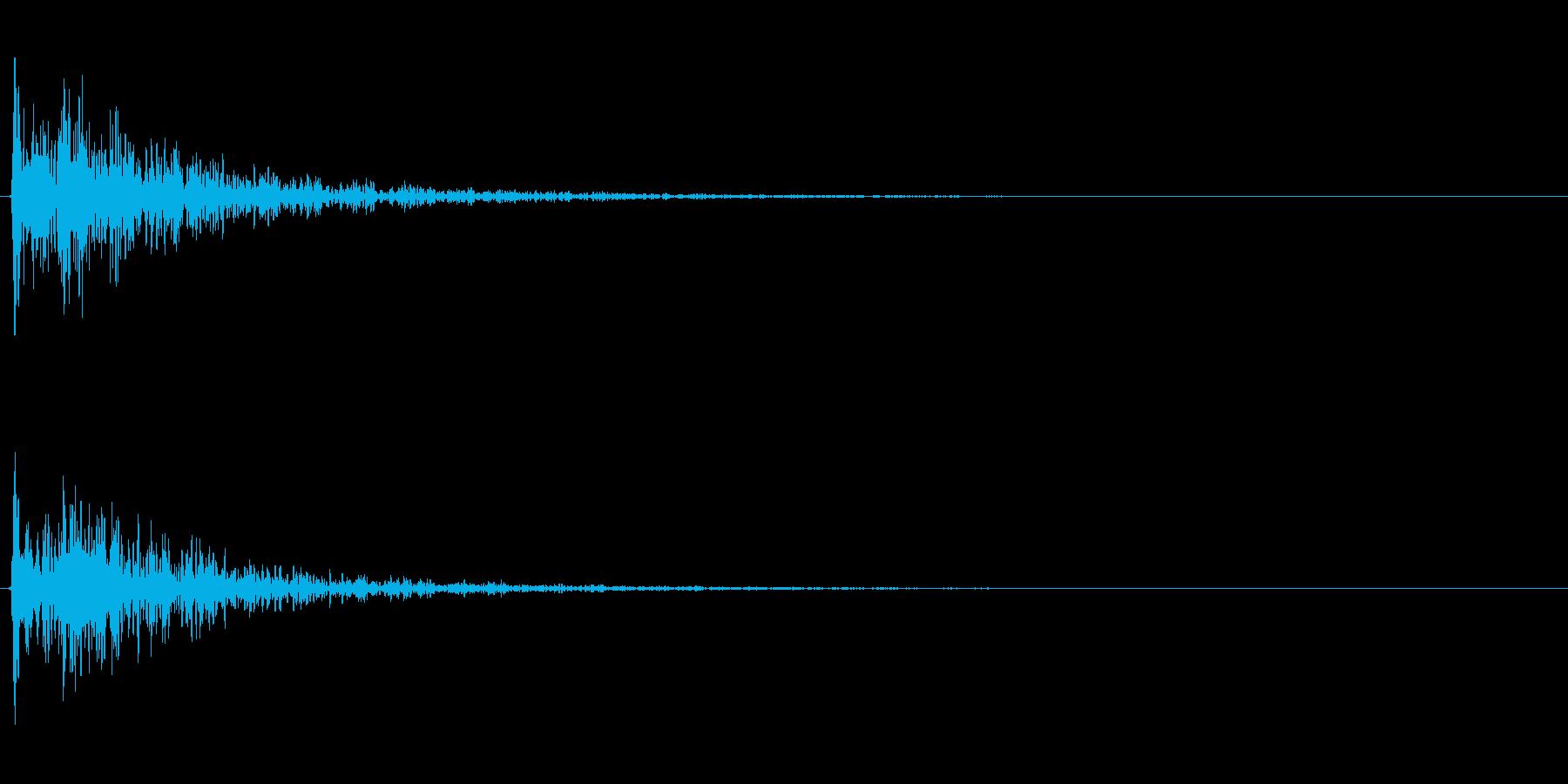 【衝撃01-2】の再生済みの波形