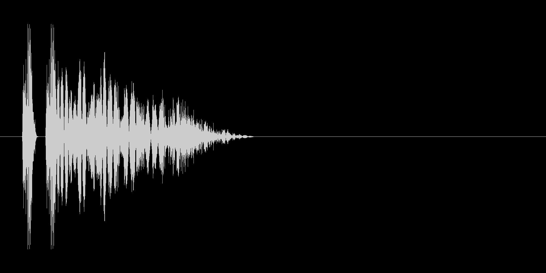 ヒット音。重い音。「グシャ」の未再生の波形