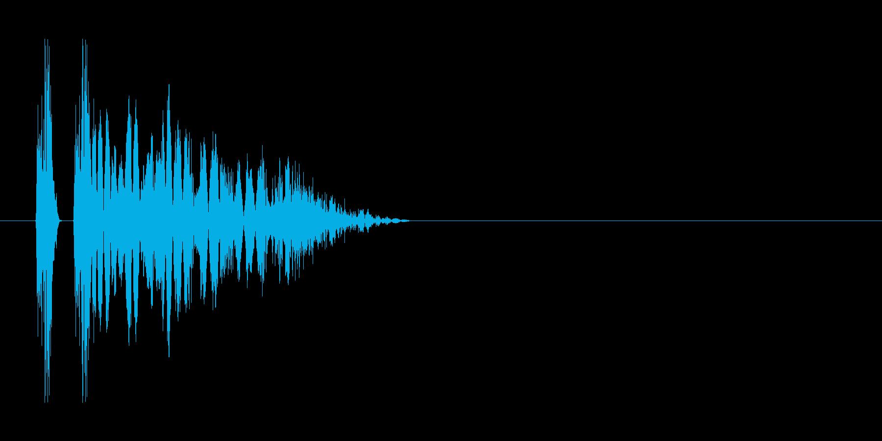 ヒット音。重い音。「グシャ」の再生済みの波形