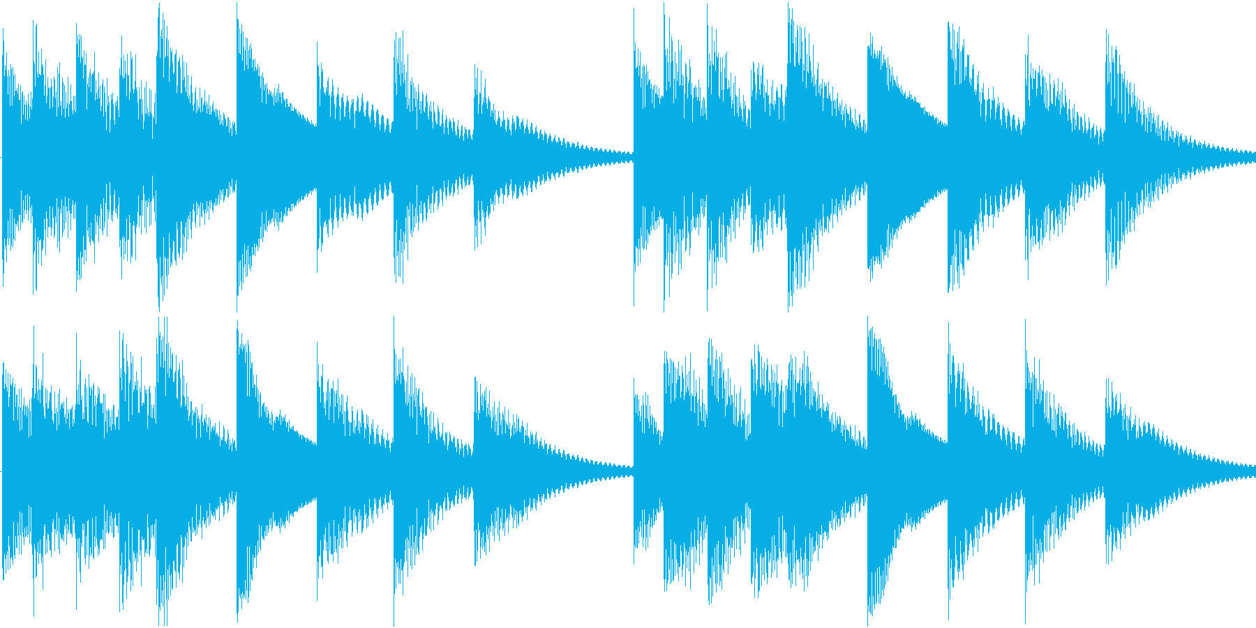 シンプルベル お知らせ ハテナ ? 07の再生済みの波形
