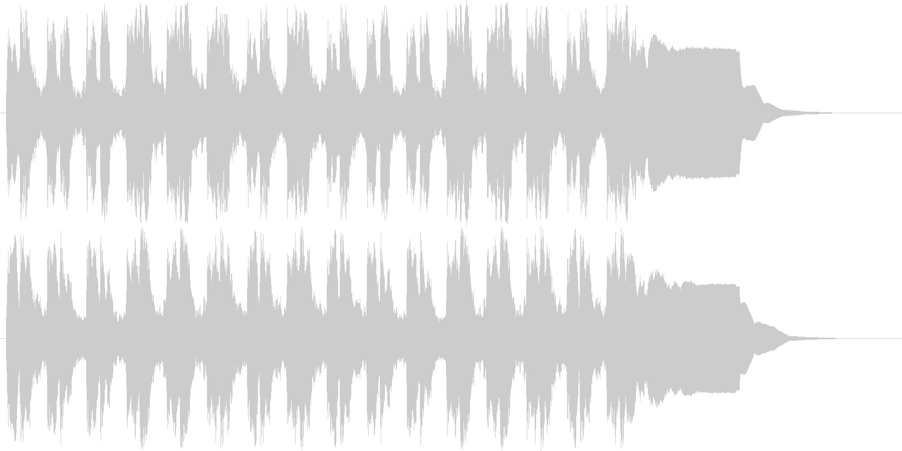 ラッパのみのファンファーレです。の未再生の波形