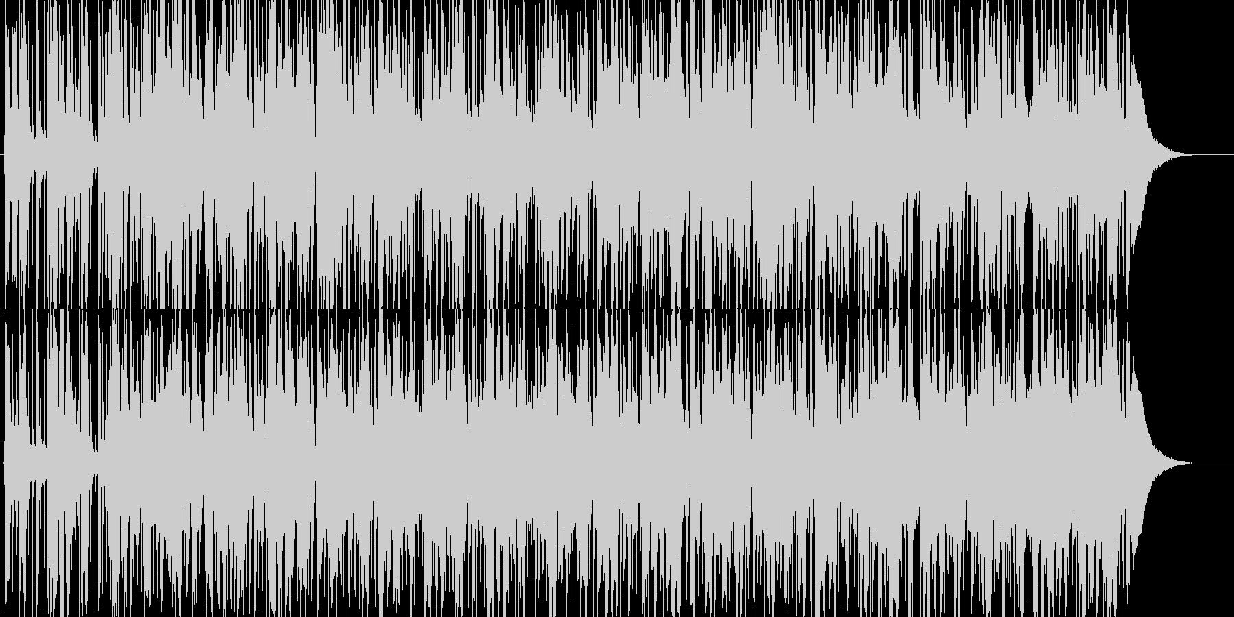 異国情緒溢れるほのぼのBGMの未再生の波形
