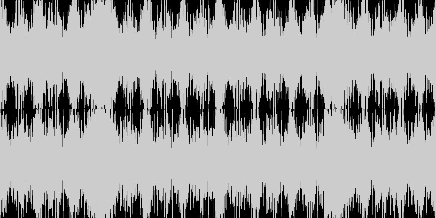 緊迫のバトル系オーケストラ ループ素材の未再生の波形
