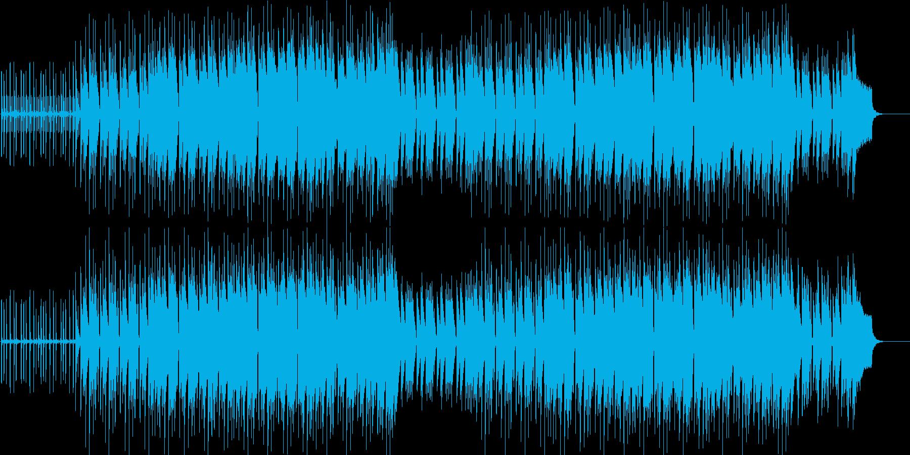 ゆったりした南国の雰囲気の曲ですの再生済みの波形