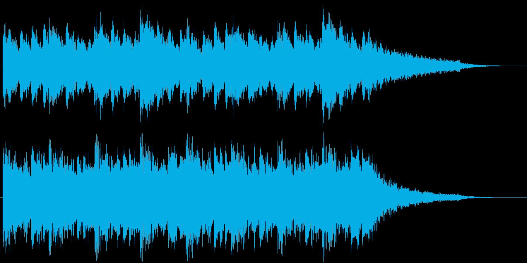 穏やかで感動的なピアノ&ストリングスの再生済みの波形