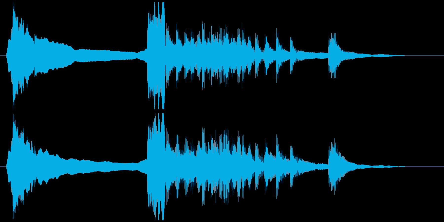 尺八と和太鼓のジングルの再生済みの波形