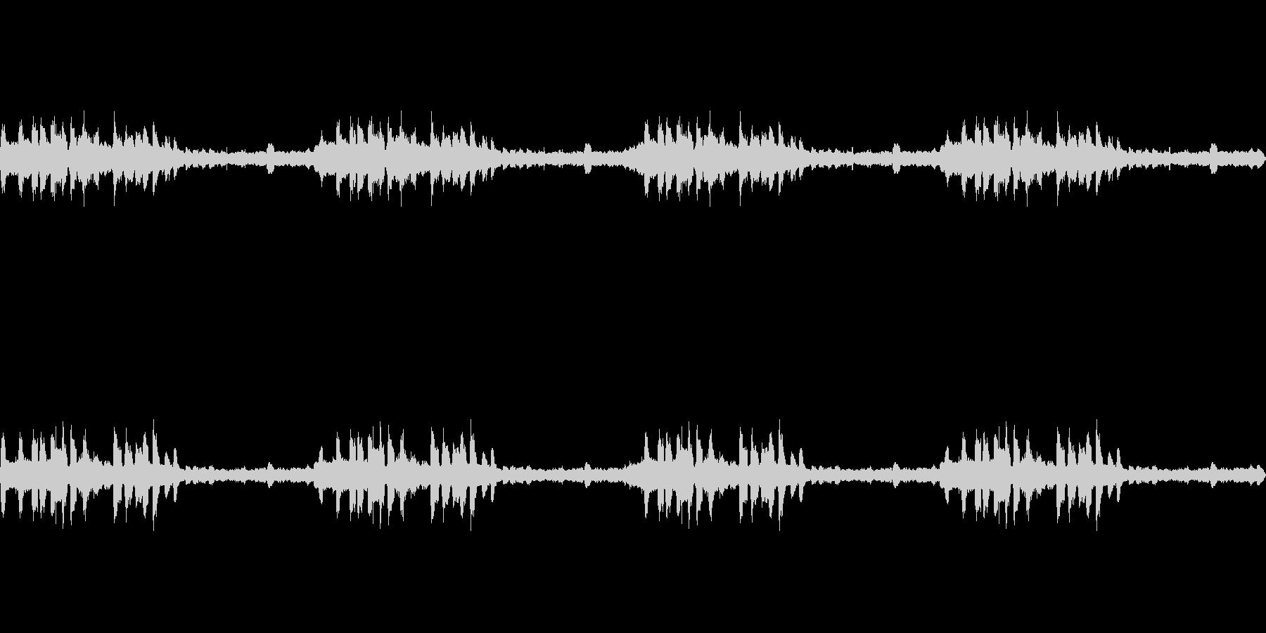 里山夕暮れのヒグラシの未再生の波形