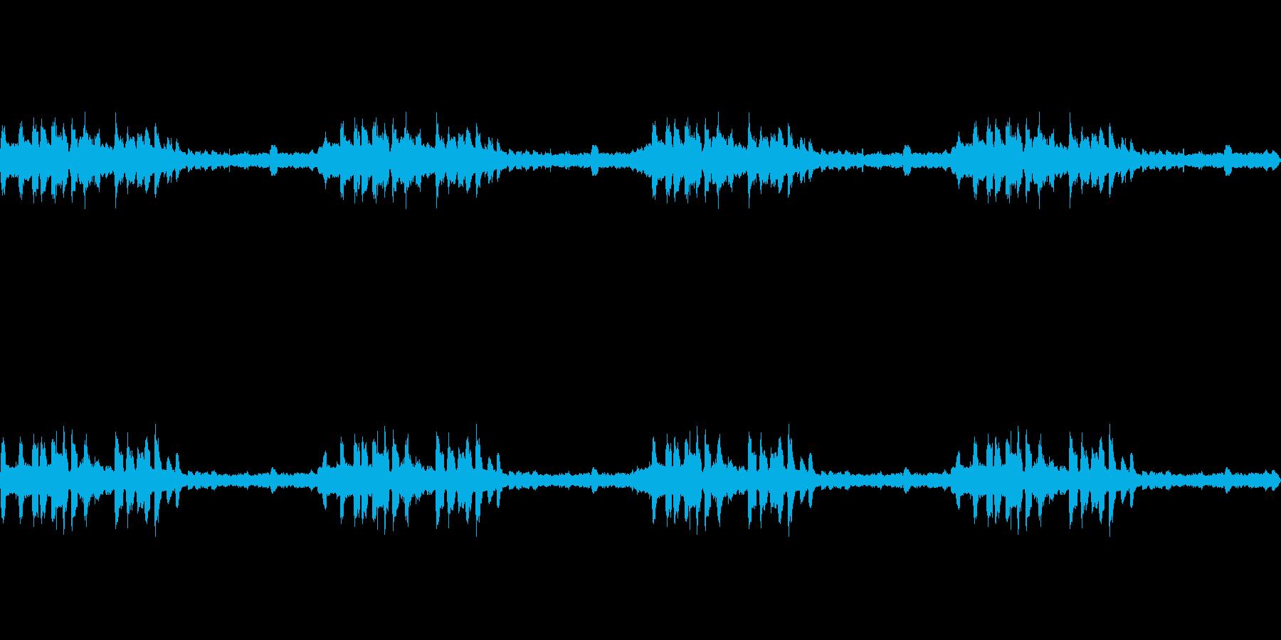 里山夕暮れのヒグラシの再生済みの波形