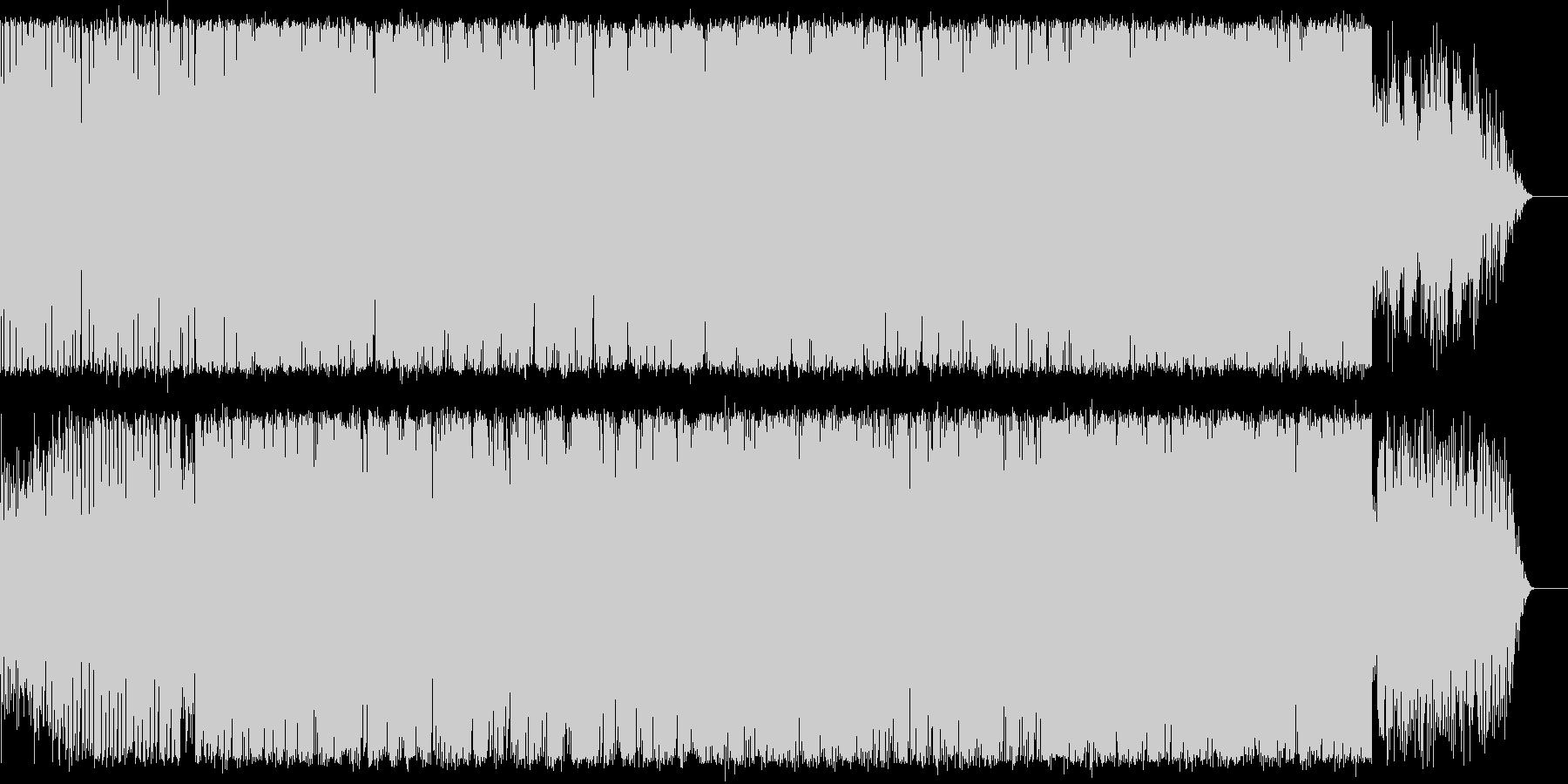 イントロが印象的なEDM曲の未再生の波形