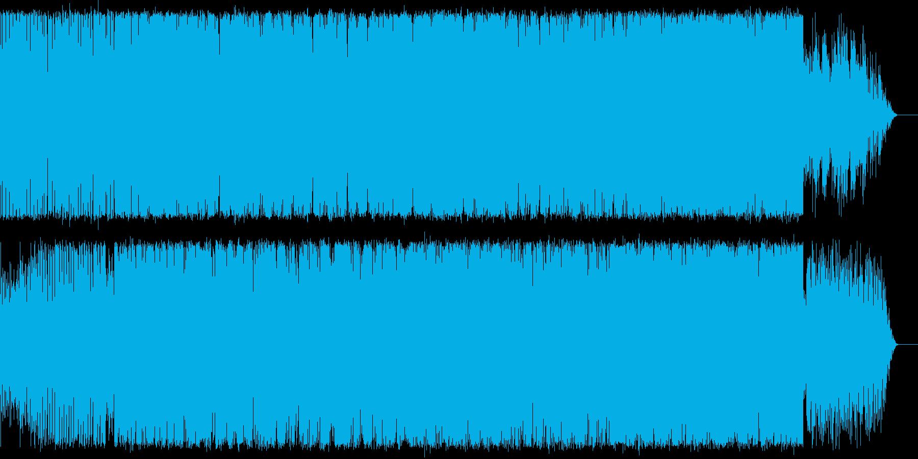 イントロが印象的なEDM曲の再生済みの波形