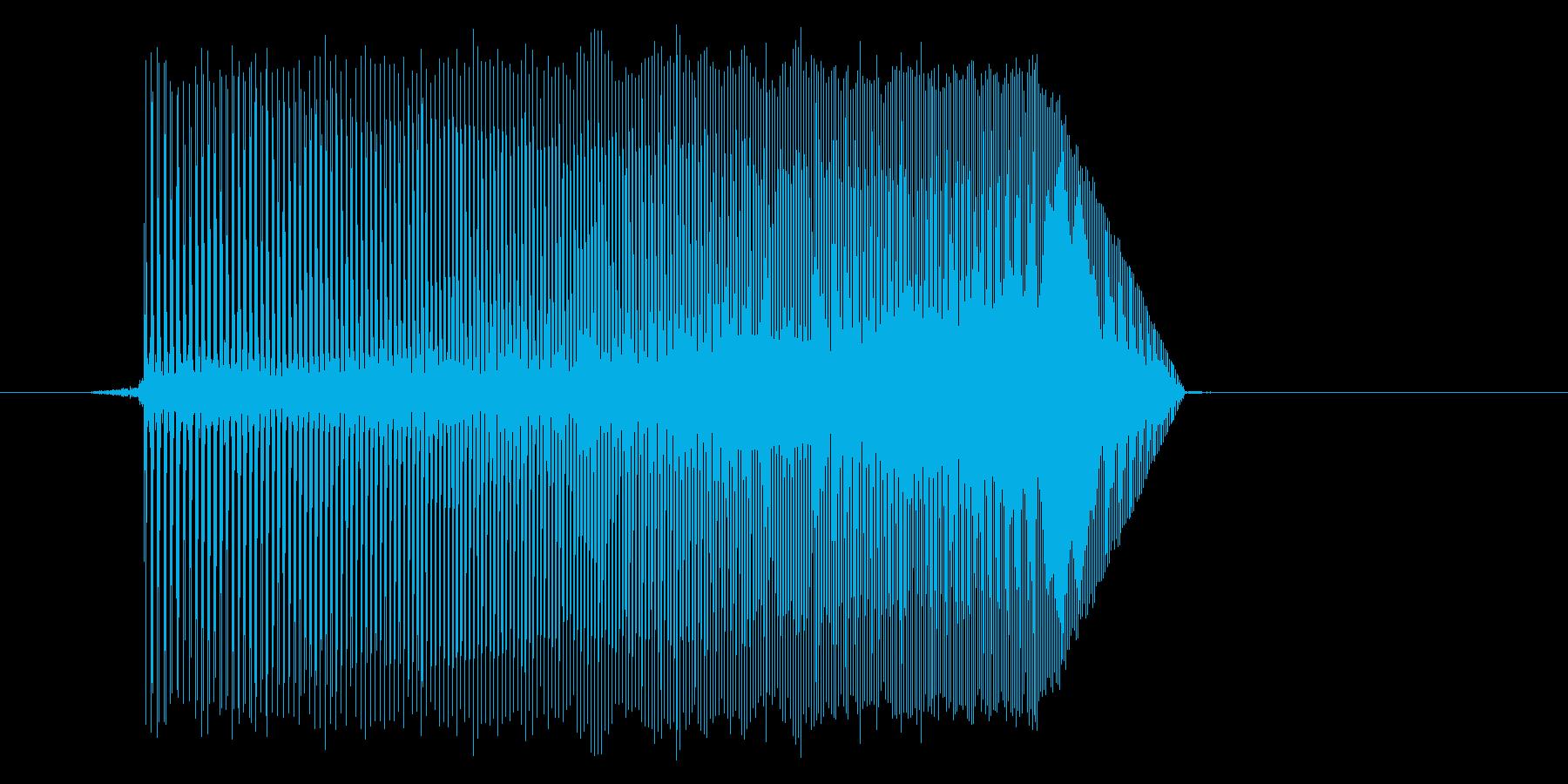 ゲーム(ファミコン風)ジャンプ音_047の再生済みの波形