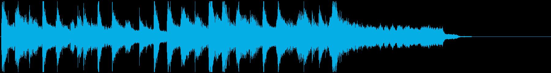シタールのインド風ジングルの再生済みの波形